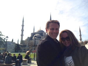 Meaghan and Andrew in Istanbul