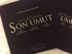 Turkish premiere invitation for Son Umut