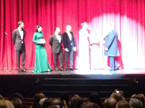 The cast take the stage in Istanbul